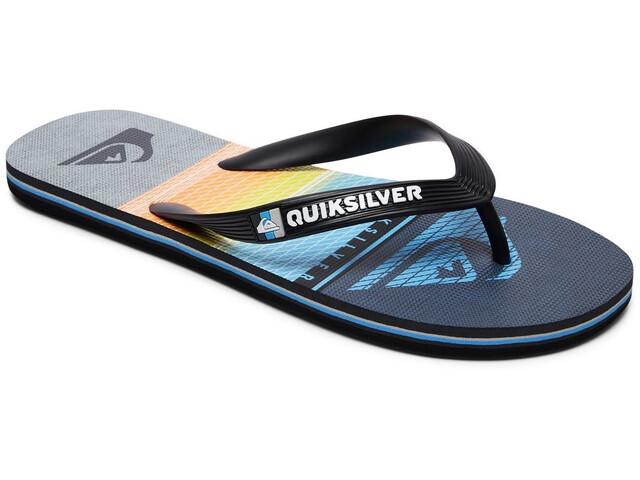 Quiksilver Molokai Highline Slab - Sandalias Hombre - gris/negro